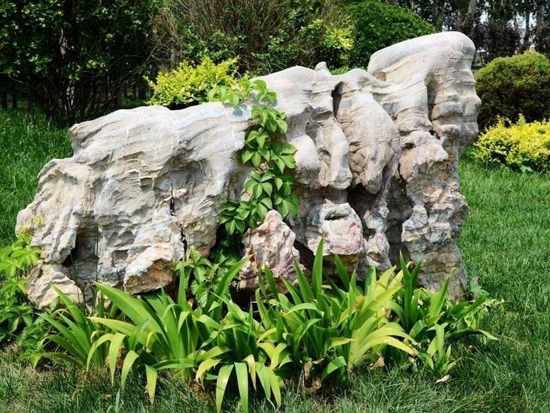 绿植和水冲石该怎么搭配呢?